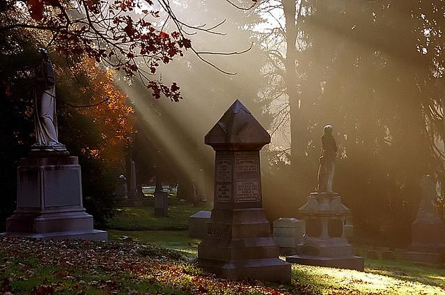 "Cincinnati – Spring Grove Cemetery & Arboretum ""Morning Light On Statuary"""