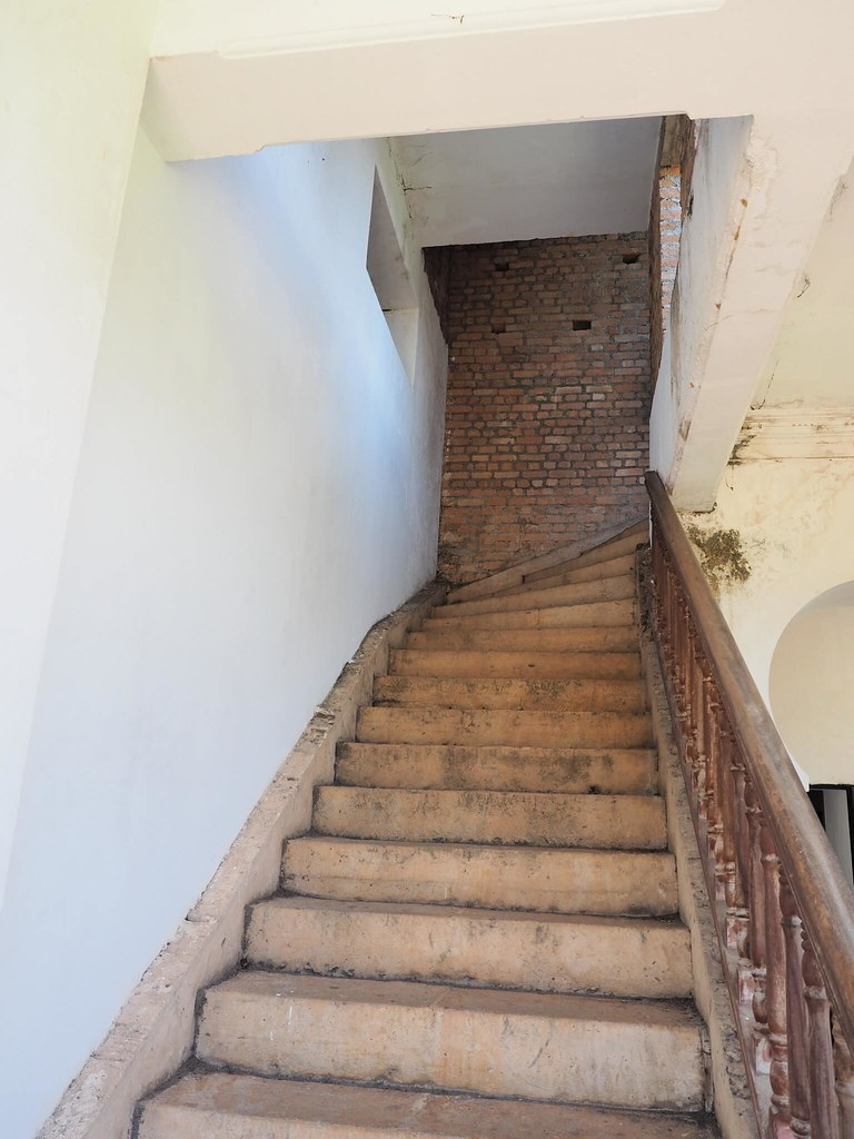 The stair up to the upper floor of Kellie's Castle