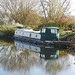Reflection in the river Chelmer, near Sandford Lock, Essex