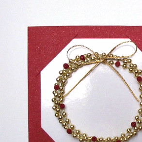 bead wreath card shine