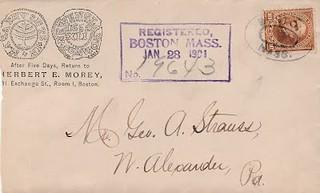 MOREY to G. A. Strauss, 1901
