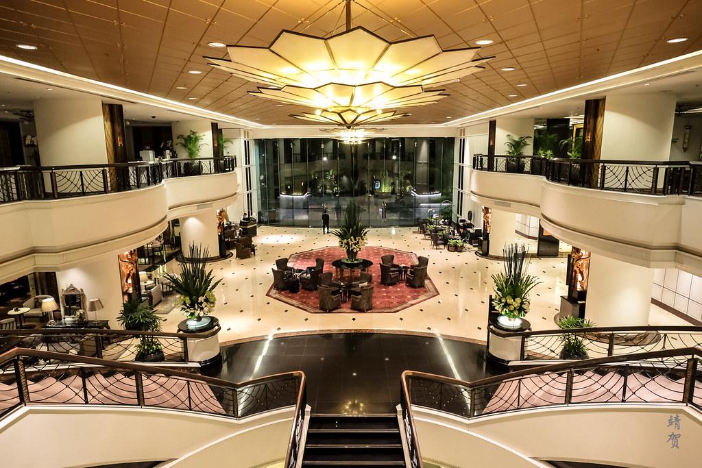 Grand lobby at night