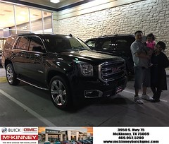 Happy Anniversary to John on your #GMC #Yukon from Austin Bell at McKinney Buick GMC!