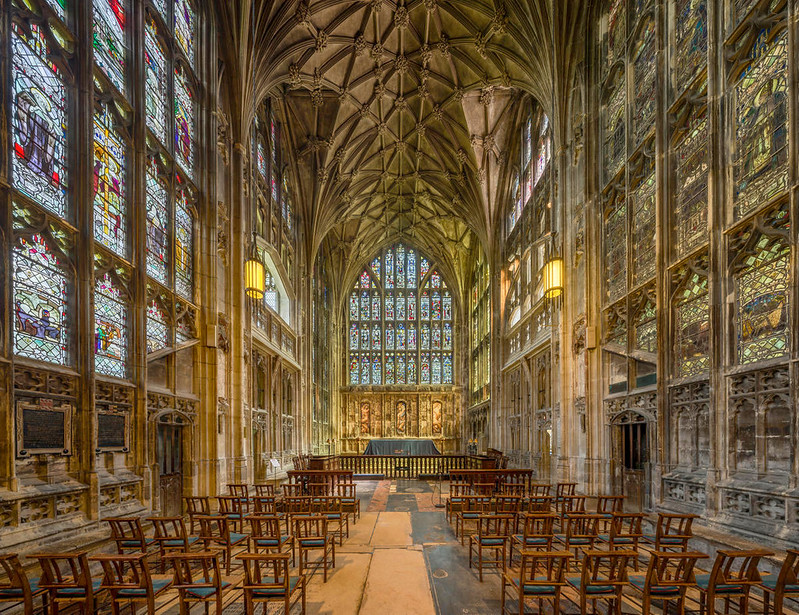 The Lady Chapel of Gloucester Cathedral, Gloucestershire. Credit David Iliff