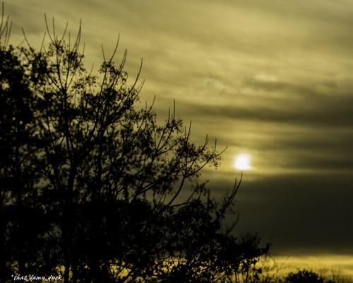 clouds nature sundown