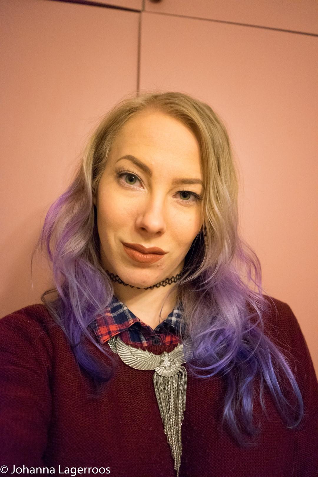 DIY purple ombre