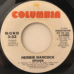 HERBIE HANCOCK:SPIDER(LABEL SIDE-B)