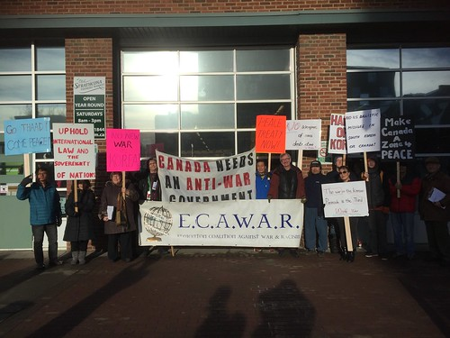 ECAWAR Info Picket: Nov. 25, 2017