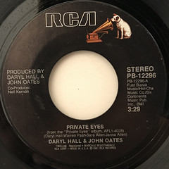 DARYL HALL & JOHN OATES:PRIVATE EYES(LABEL SIDE-A)
