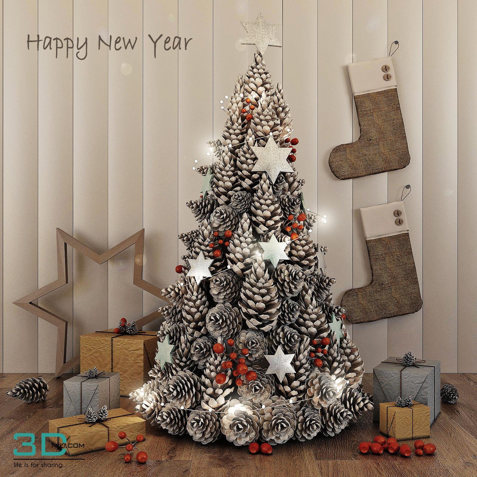 Christmas Decor 106 3dmodel Free Download