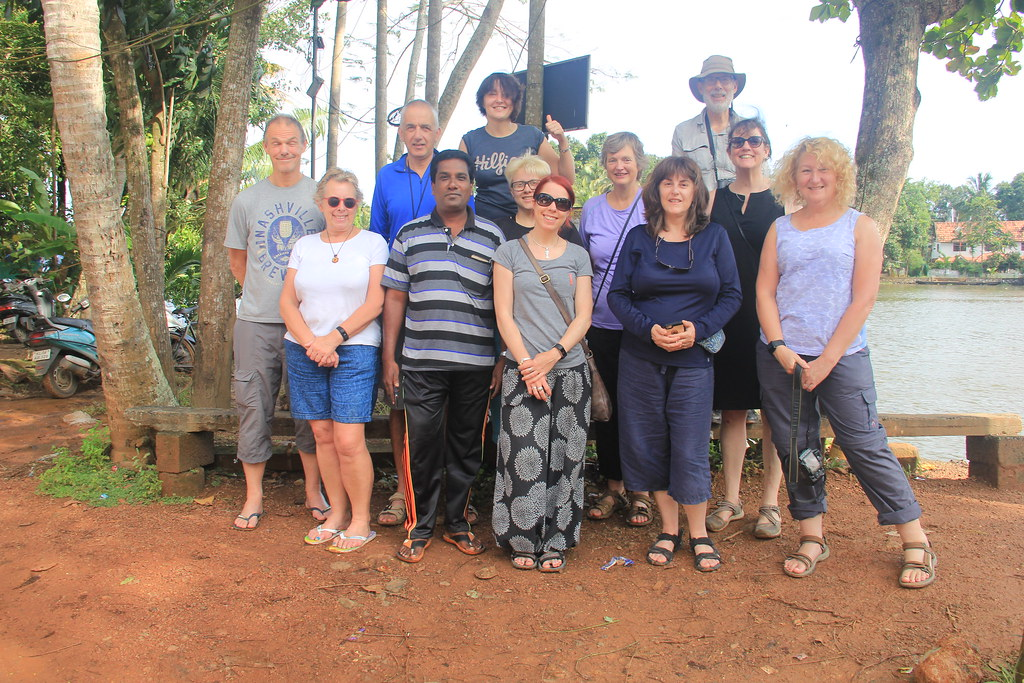 Our fantastic Kerala trekking group with our local guide from Chennamkary