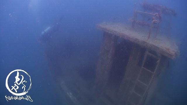 思った以上に大きくて迫力ある沈船でしたよ!