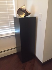 Black Laminate Pedestals with sculptures