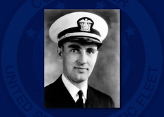 An undated file photo of Lt.j.g. Aloysius H. Schmitt. (U.S. Navy/courtesy of Loras College)