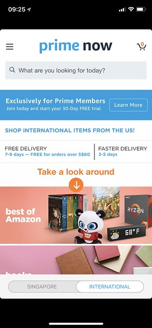 Amazon Prime Singapore - International Section