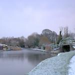 Snowy scene at Preston