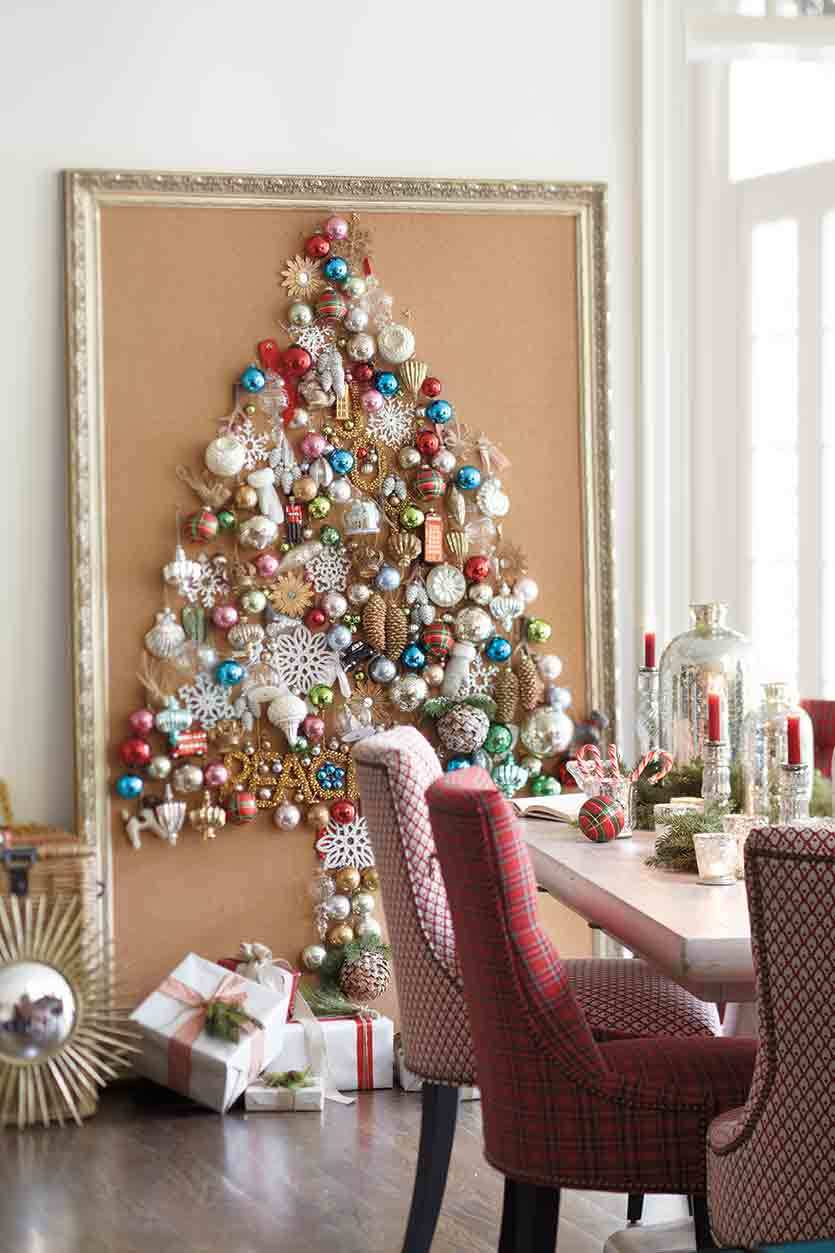 Ornament Christmas Tree Corkboard Dining Room Holiday Decorations