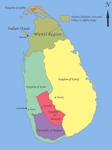 Sri_Lanka-royaumes_