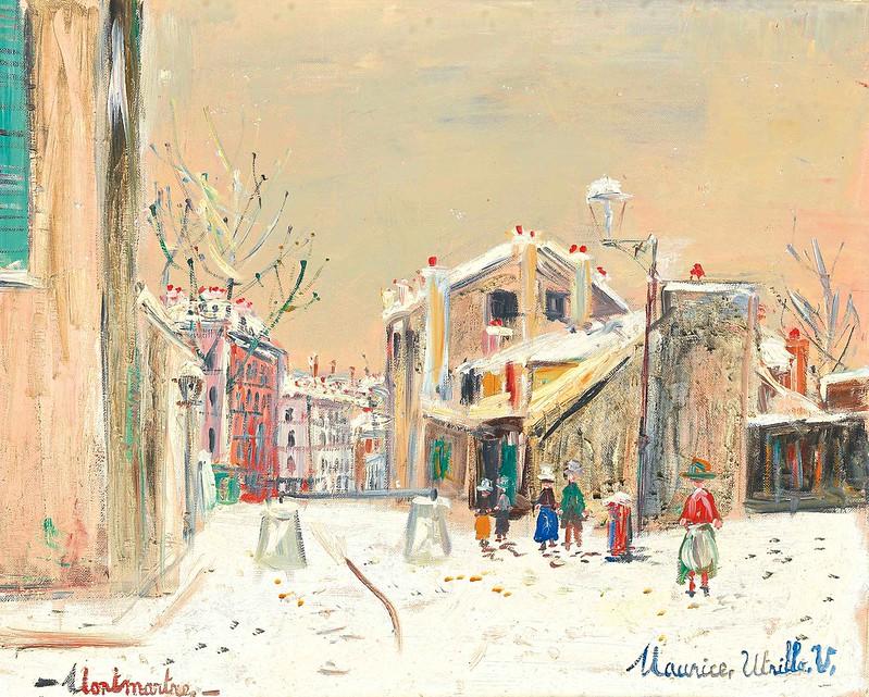 Maurice Utrillo - La maison de mimi pinson à montmartre