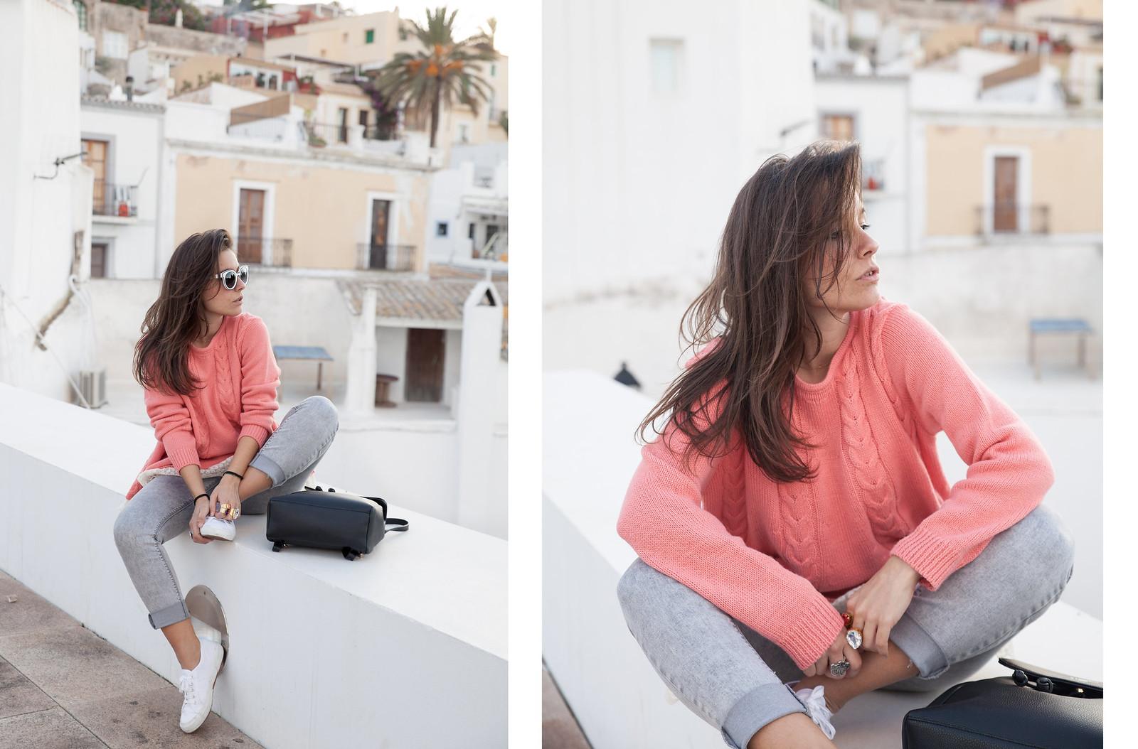 como combinar jersey de punto rosa theguestgirl influencer ibiza spain barcelona laura santolaria brand ambassador spain ibiza barcelona