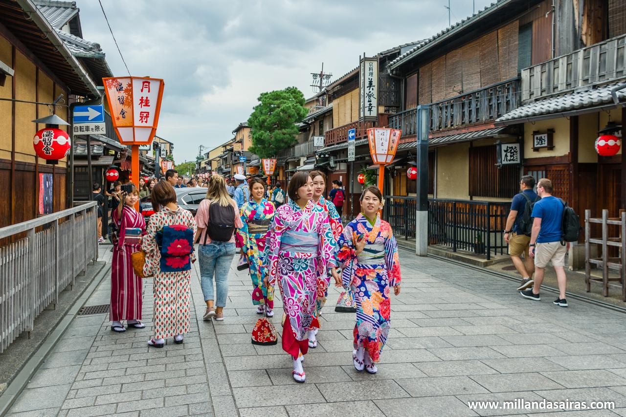 Hanamikoji-dori, en Gion, Kyoto
