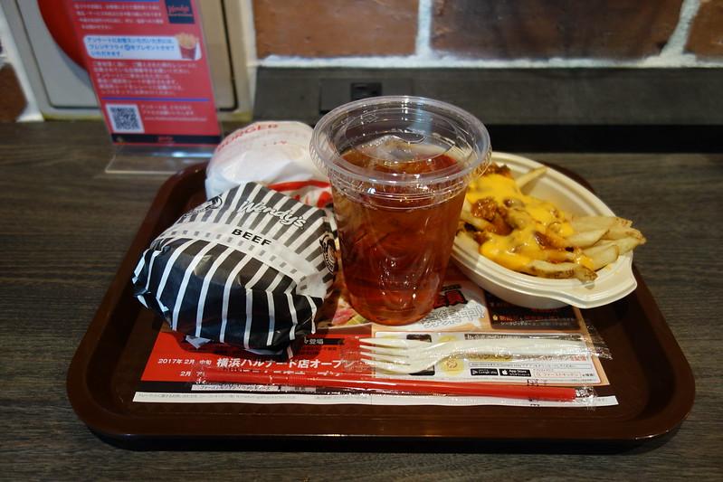 Hamburger @Wendy's First Kitchen ,Ikebukuro , Tokyo