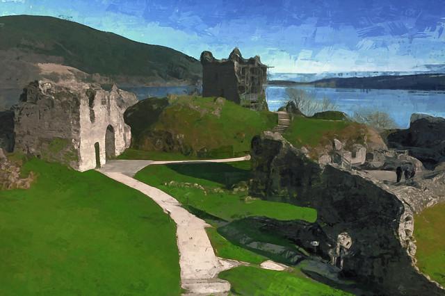Naive Impression of Castle Urquhart.
