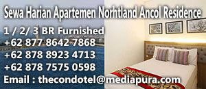 sewa apartemen harian northland ancol residence
