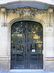 A glass and ironwok door, Barcelona