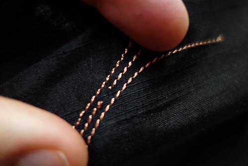 Machine sewn Neopixel strip