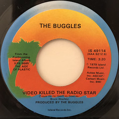 THE BUGGLES:VIDEO KILLED THE RADIO STAR(LABEL SIDE-A)