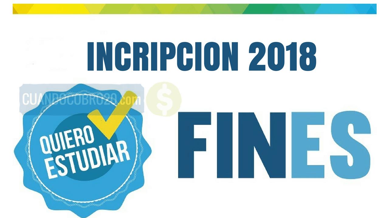 Inscripción al Plan Fines 2018