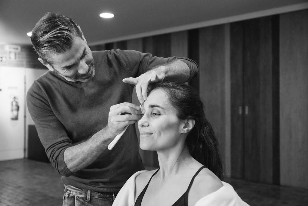 Sandra Celas na maquilhagem