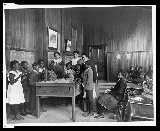 Thanksgiving Lesson, c. 1900.