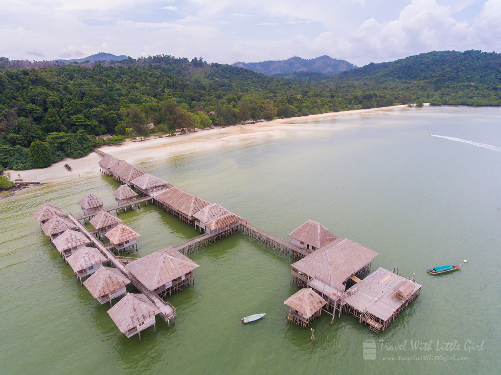 Telunas Beach Resort in Sky Aerial View