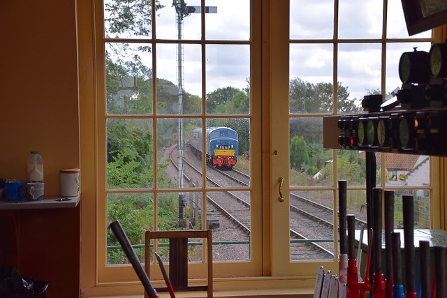1V67 - D182 (46045) approaches Thuxton, with the first service of the day from Wymondham Abbey to Dereham. Mid Norfolk Railway 09 09 2016