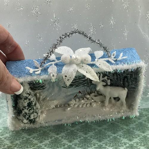 Christmas card shadowbox