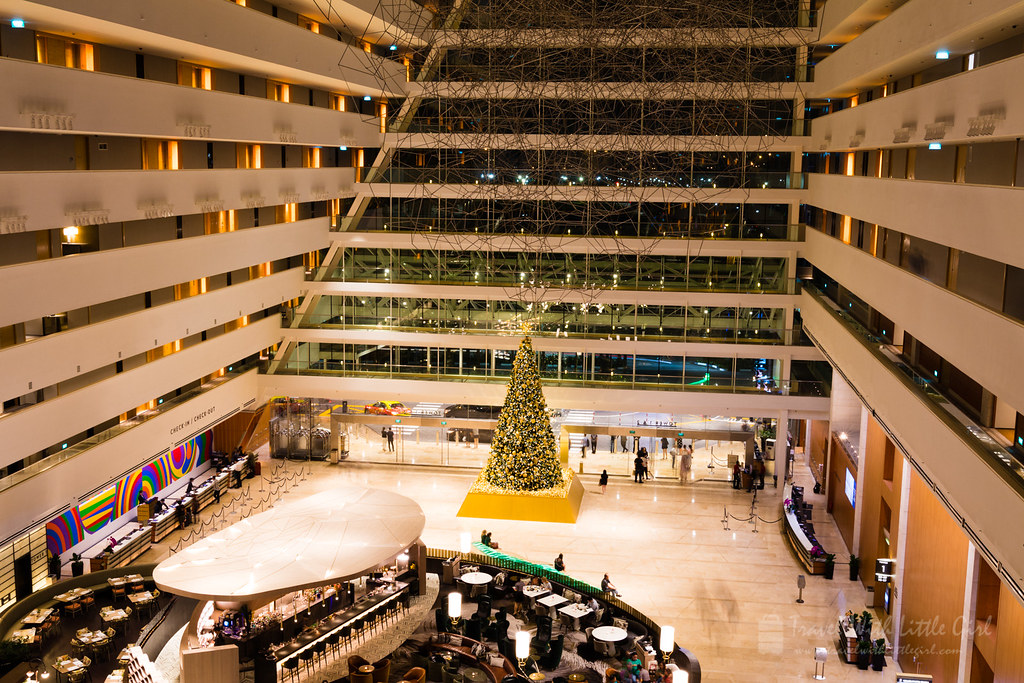 Christmas Tree in Marina Bay Sand Hotel Lobby