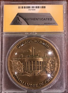 George W Bush Challenge coin ANACS holdered obverse3