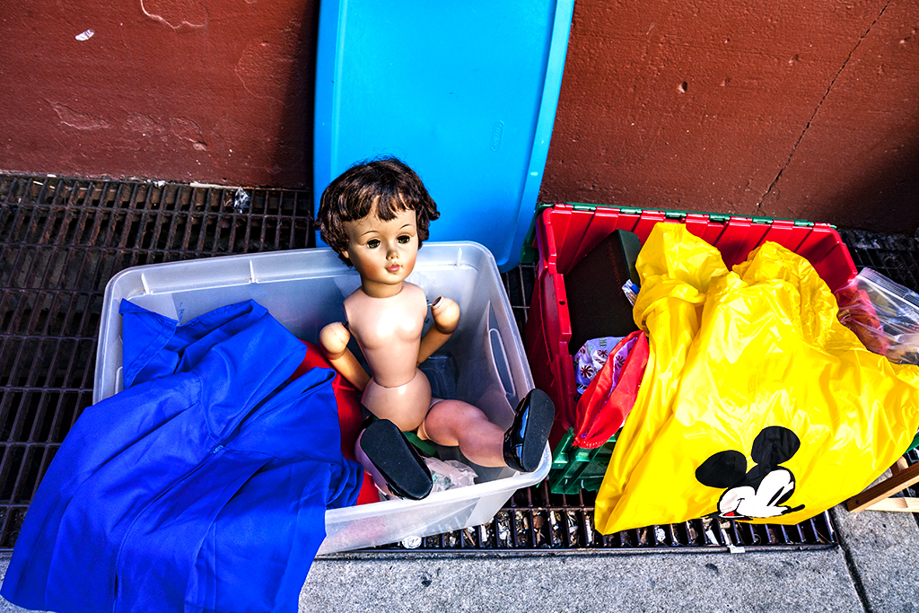 Naked male doll and Mickey Mouse--Center City
