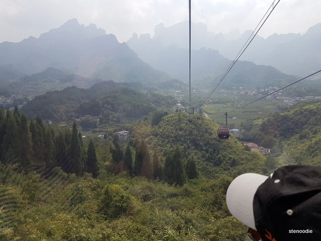 Tianmen Mountain cable car view
