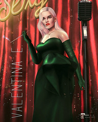 NEW! Valentina E. Gilda Satin Gown & Gloves @ Rewind!