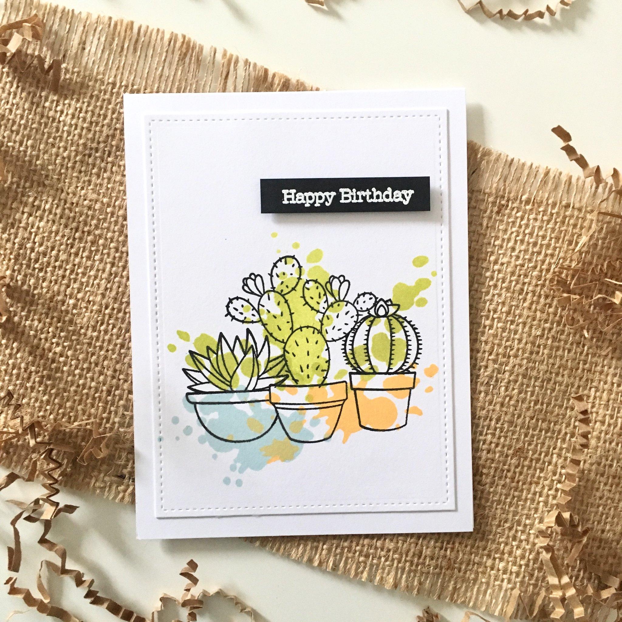 Cactus splatter cards