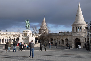 Budapest fisherman bastion castle side