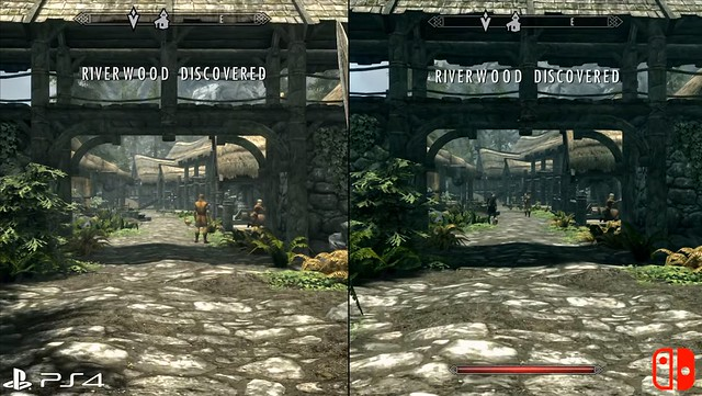 Skyrim - PS4 vs Switch