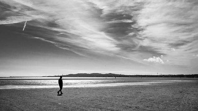 Lonely walk - Dublin, Ireland - Black and white street photography
