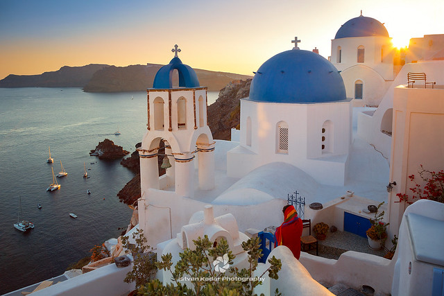 Oia's Famous Blue Domes