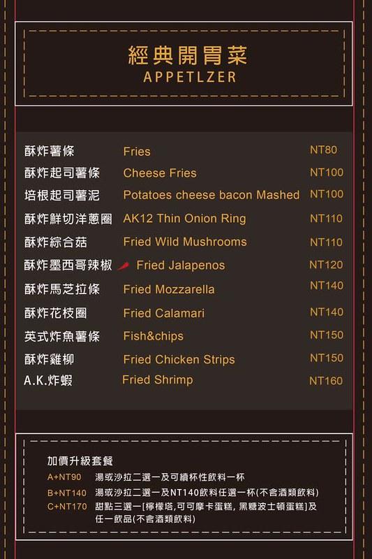 ak12菜單ak12西門菜單ak12美式小館訂位西門町推薦美式餐廳西門美式漢堡 (30)
