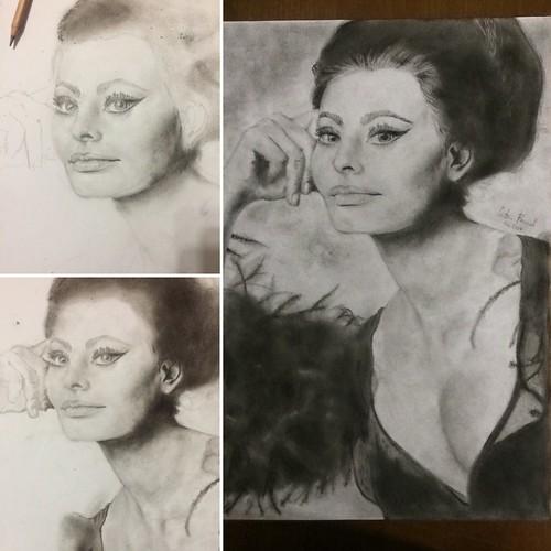 Sofia Loren evoluzione del ritratto