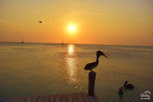 Caye Caulker Belize - amazing spot for sunsets on Caye Caulker island